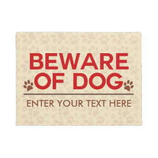 Beware of Dog Custom Text Doormat