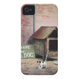 Beware of dog sign with small dog Case-Mate iPhone 4 cases