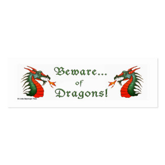 Beware of Dragons White Pack Of Skinny Business Cards