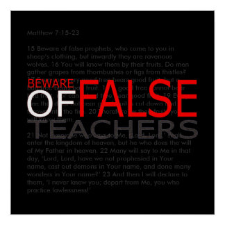 Beware of False Teachers  Christian Witness Poster