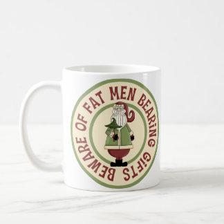 Beware Of Fat Men Funny Christmas Mug