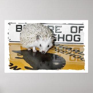 Beware of Hedgehog Poster