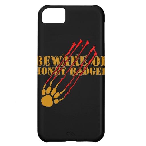 Beware of honey badger iPhone 5C case