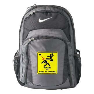 Beware of Kung Fu master Backpack