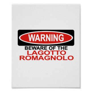 Beware Of Lagotto Romagnolo Print