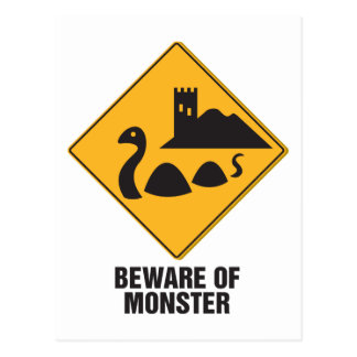 Beware Of Loch Ness Monster Postcards