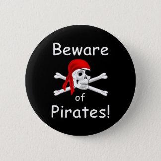 Beware of Pirates Button