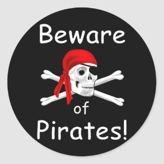 Beware of Pirates Sticker