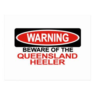 Beware Of Queensland Heeler Postcards