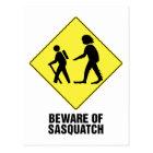 Beware of Sasquatch Postcard