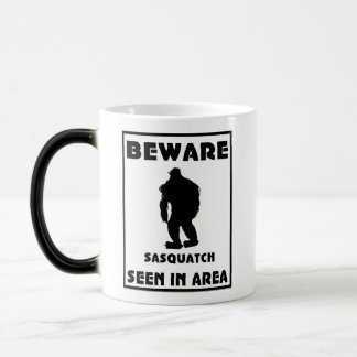 Beware of Sasquatch Poster Morphing Mug