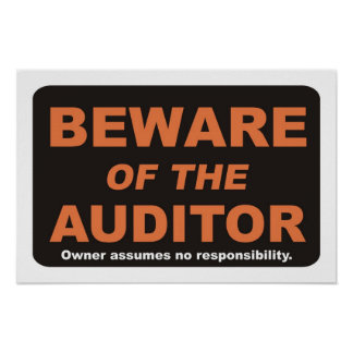 Beware of The Auditor Poster
