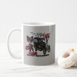Beware of the Cat - Cat Women Funeral Car Casket Coffee Mug