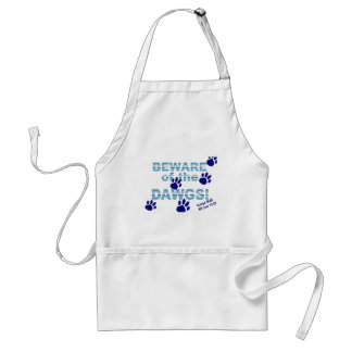 Beware of the dawgs!  Gonna walk all over YOU! Standard Apron