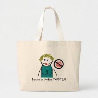 Beware of the kiss MONSTER! Jumbo Tote Bag