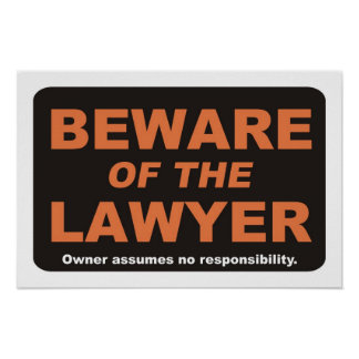 Beware of The Lawyer Poster