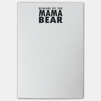 Beware of the Mama Bear Post-It Notes
