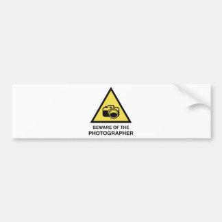 Beware Of The Photographer Bumper Sticker