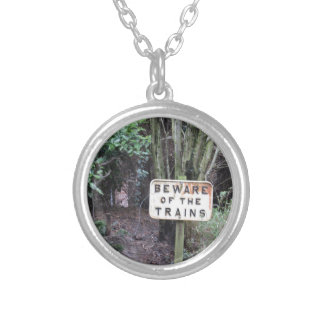 Beware of the Trains! - Range Silver Plated Necklace