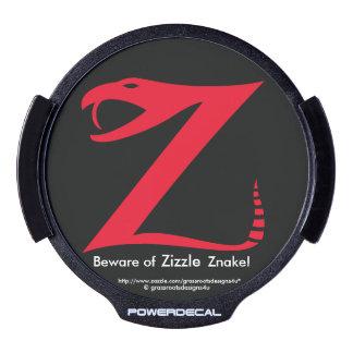 Beware of Zizzle Znake! LED Car Decal