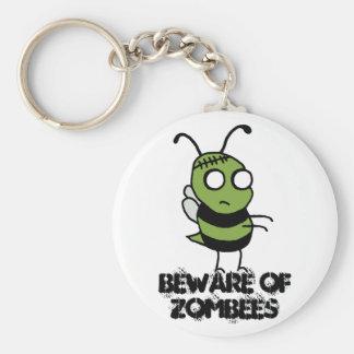 Beware of Zombees Keychain