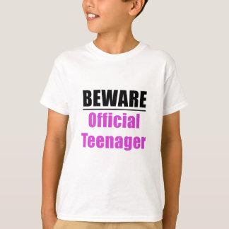 Beware Official Teenager T-Shirt