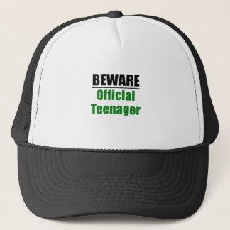 Beware Official Teenager Trucker Hat