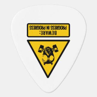Beware: progress in progress guitar pick