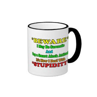 Beware Sarcastic Coffee Mug