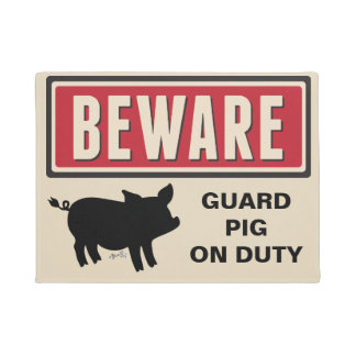 Beware Sign Doormat