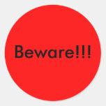 Beware!!! Sticker