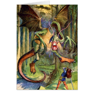 Beware the Jabberwock, my son! The jaws that bite, Card