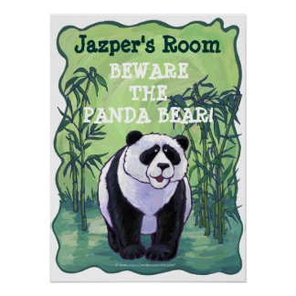Beware the Panda Bear Personalized Room Poster