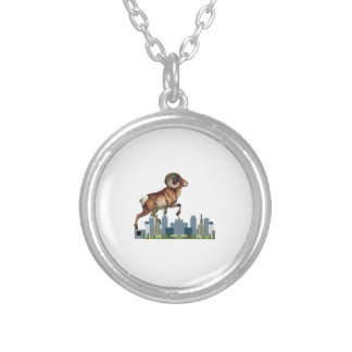 Beware the Ram Silver Plated Necklace