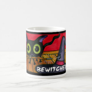 Bewitched Black Kitten Cat Coffee Mug