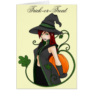 Bewitching Halloween Greeting Card