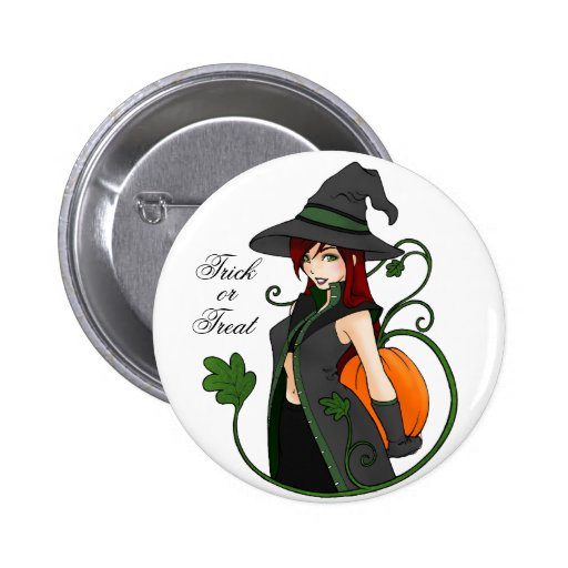 Bewitching Trick-or-Treat Button