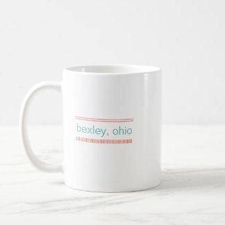Bexley, Ohio Ceramic Mug, Mint & Burnt Orange Coffee Mug