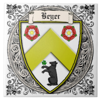 Beyer (Switzerland/Saxony) family arms Ceramic Tile