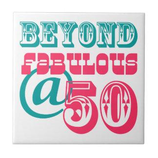 Beyond Fabulous 50th Birthday Tile Trivet