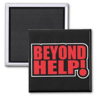 beyond help square magnet