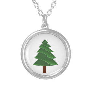 Beyond the Pine Silver Plated Necklace