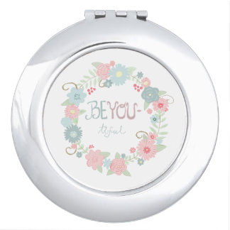 Beyou-tiful Floral Compact Mirror
