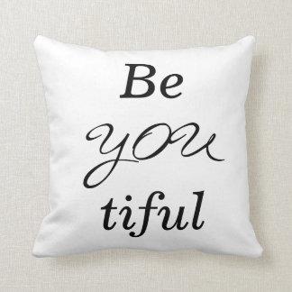 BeYOUtiful Text Decor Throw Pillow