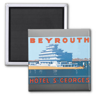 Beyrouth Hotel St. Georges, Vintage Magnets