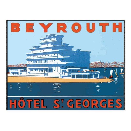 Beyrouth Hotel St. Georges, Vintage Postcard