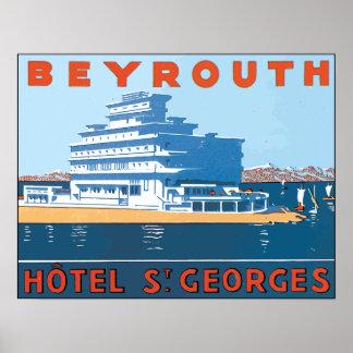 Beyrouth Hotel St. Georges, Vintage Print