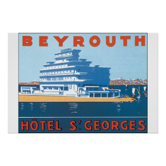 Beyrouth St. Georges Vintage Travel Poster