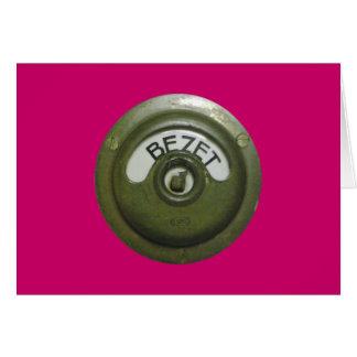 Bezet, occupied card