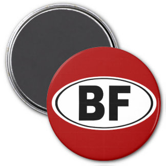 BF Beaver Falls Pennsylvania 7.5 Cm Round Magnet